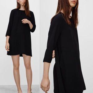 Aritzia Wilfred Myosotis Dress Black Japan Fabric